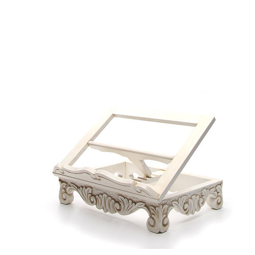 Baroque missal stand in walnut wood, ivory colour 9