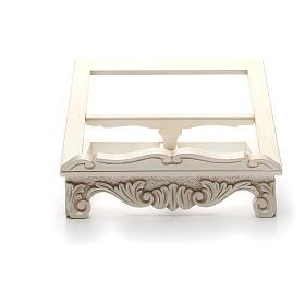 Atril de mesa madera barroco blanco s8
