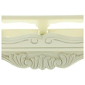 Atril de mesa madera barroco blanco