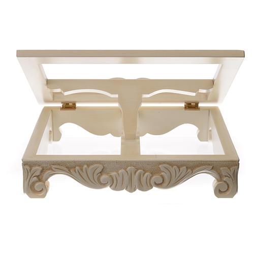 Atril de mesa madera barroco blanco 7