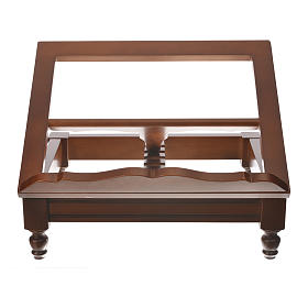 Classic missal stand in walnut wood s6