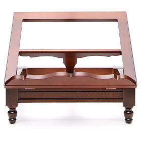 Classic missal stand in walnut wood s17