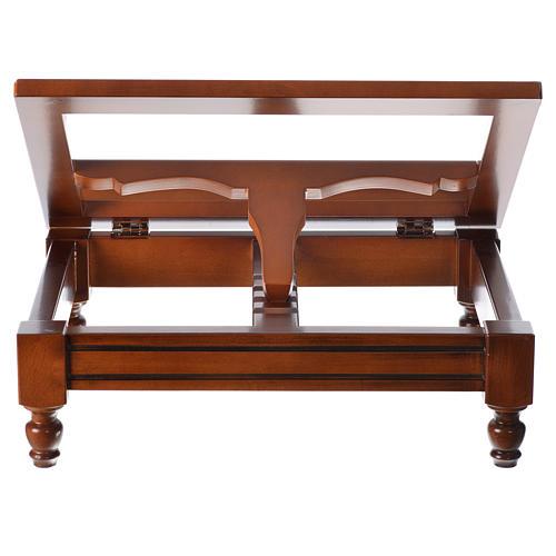 Classic missal stand in walnut wood 11