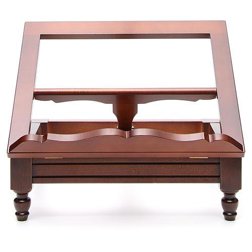 Classic missal stand in walnut wood 17