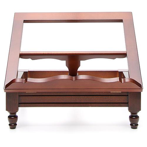 Classic missal stand in walnut wood 1