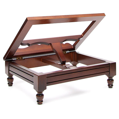 Classic missal stand in walnut wood 3