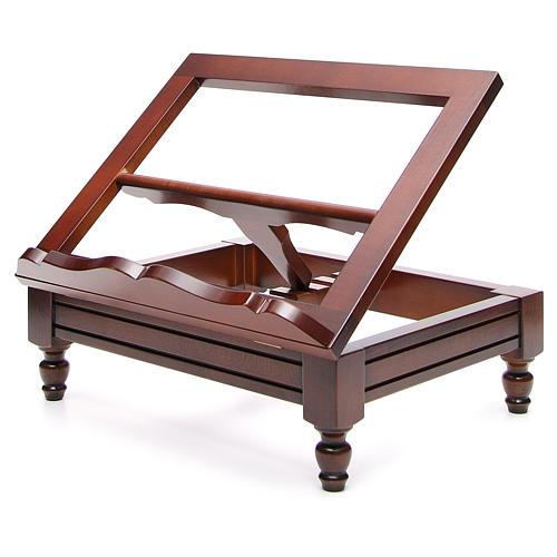 Atril de mesa madera de nogal clásico 18