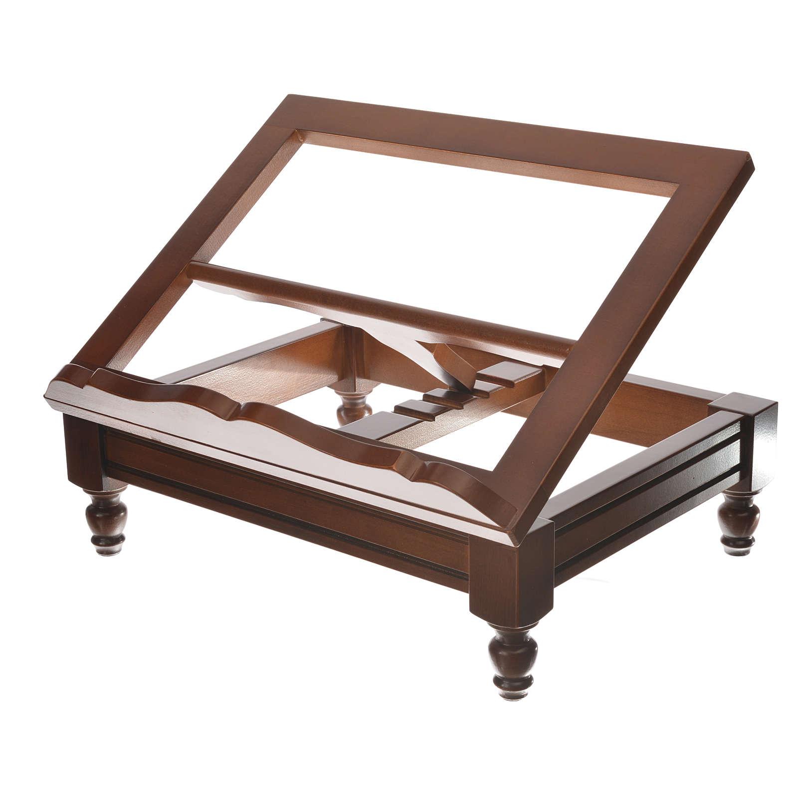 Estante de mesa clássico madeira nogueira 4