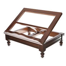Estante de mesa clássico madeira nogueira s5