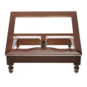 Estante de mesa clássico madeira nogueira s6