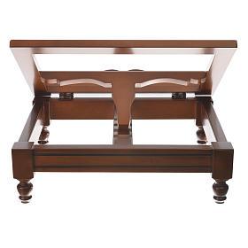 Estante de mesa clássico madeira nogueira s7