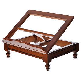 Estante de mesa clássico madeira nogueira s9