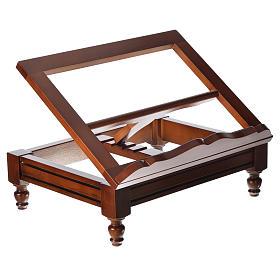 Estante de mesa clássico madeira nogueira s10