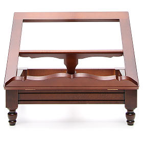 Estante de mesa clássico madeira nogueira s13