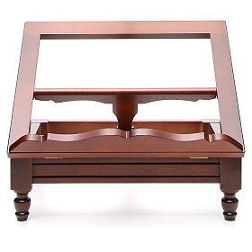 Estante de mesa clássico madeira nogueira s17