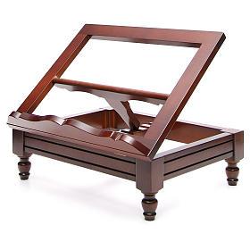 Estante de mesa clássico madeira nogueira s18