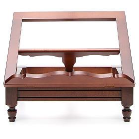Estante de mesa clássico madeira nogueira s1