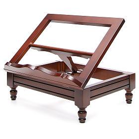 Estante de mesa clássico madeira nogueira s2