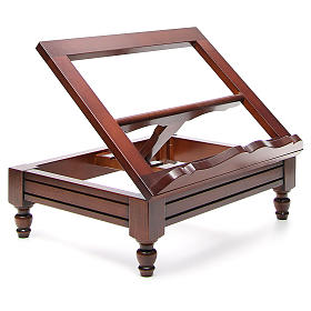 Estante de mesa clássico madeira nogueira s4