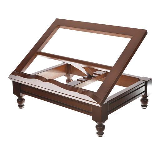 Estante de mesa clássico madeira nogueira 5