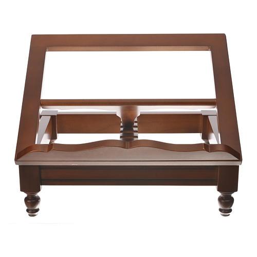 Estante de mesa clássico madeira nogueira 6