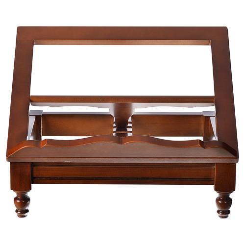 Estante de mesa clássico madeira nogueira 8