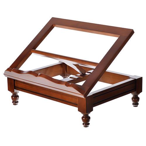 Estante de mesa clássico madeira nogueira 9