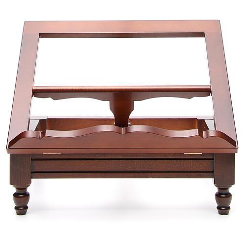 Estante de mesa clássico madeira nogueira 13