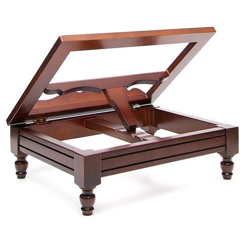 Estante de mesa clássico madeira nogueira 19