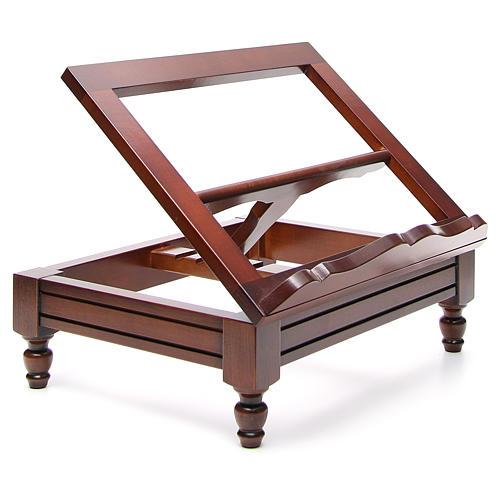 Estante de mesa clássico madeira nogueira 20