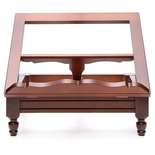 Estante de mesa clássico madeira nogueira 1