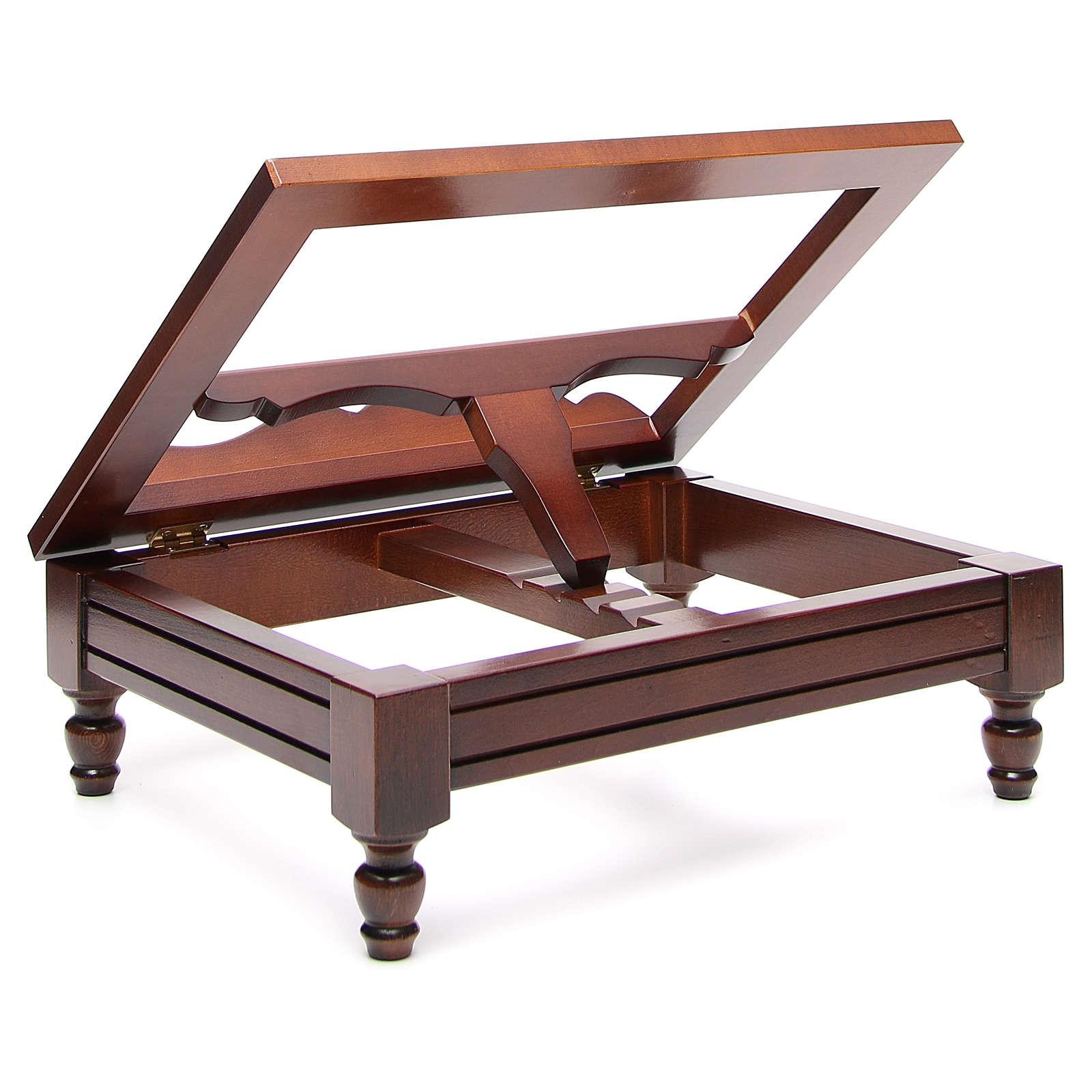 Classic missal stand in walnut wood 4