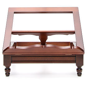 Classic missal stand in walnut wood s1