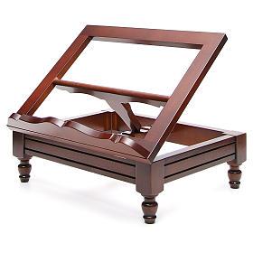 Classic missal stand in walnut wood s2