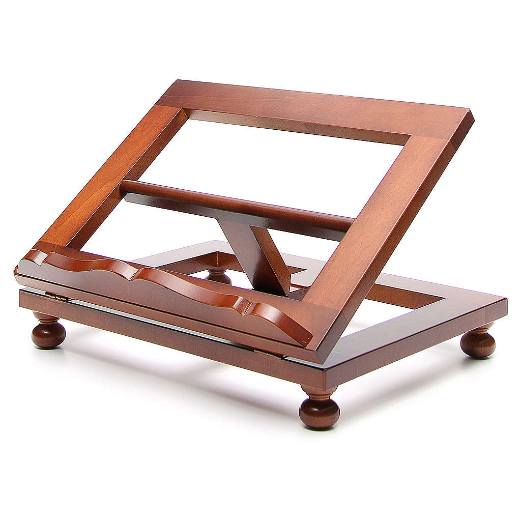 Missal stand in walnut wood, big size 4