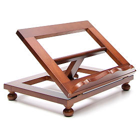 Missal stand in walnut wood, big size s11