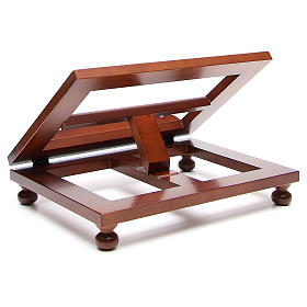 Missal stand in walnut wood, big size s3