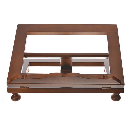 Missal stand in walnut wood, big size 6