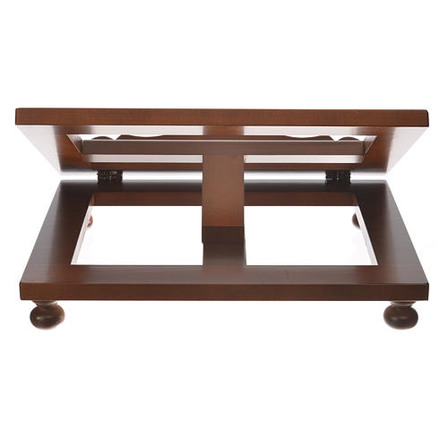 Missal stand in walnut wood, big size 7