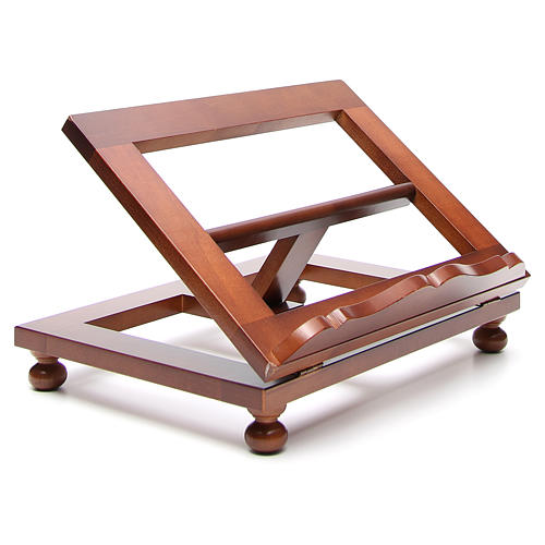 Missal stand in walnut wood, big size 11