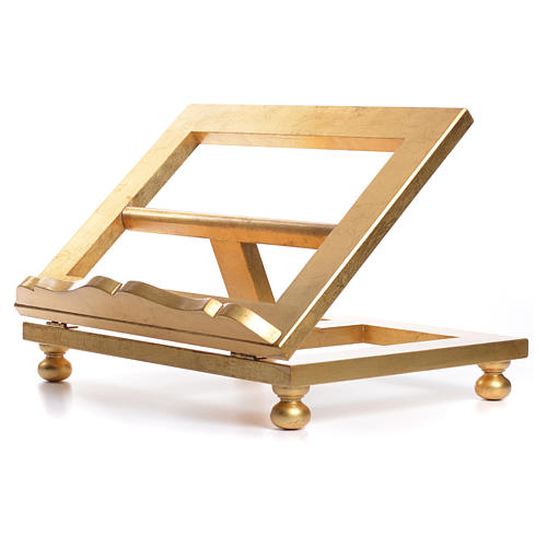 Table lectern in gold leaf 35x40cm 7