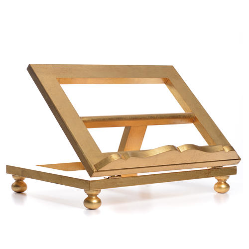 Table lectern in gold leaf 35x40cm 8