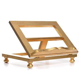 Leggio da tavolo foglia oro 35x40 cm s8
