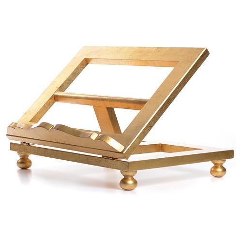 Leggio da tavolo foglia oro 35x40 cm 7