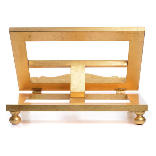 Leggio da tavolo foglia oro 35x40 cm 9