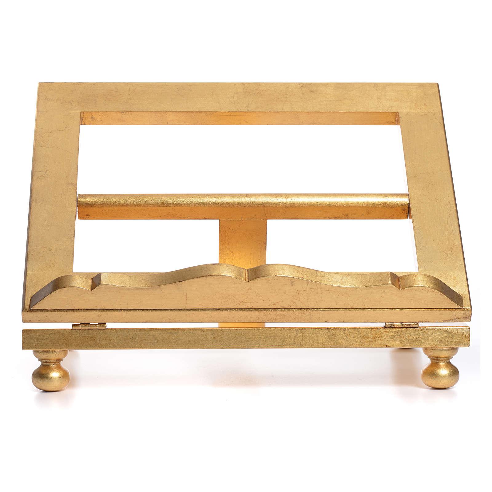 Estante mesa folha ouro 35x40 cm 4