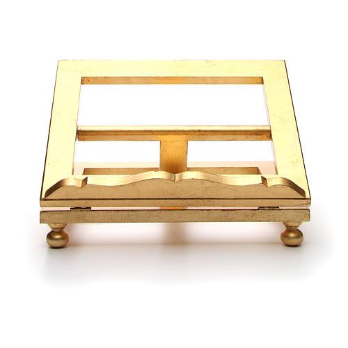 Estante mesa folha ouro 35x40 cm 11