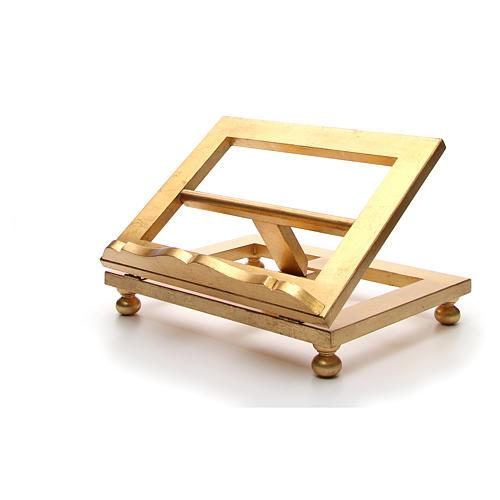 Estante mesa folha ouro 35x40 cm 12