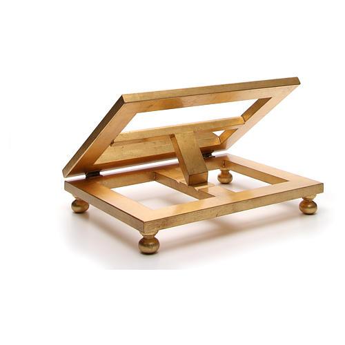 Estante mesa folha ouro 35x40 cm 13
