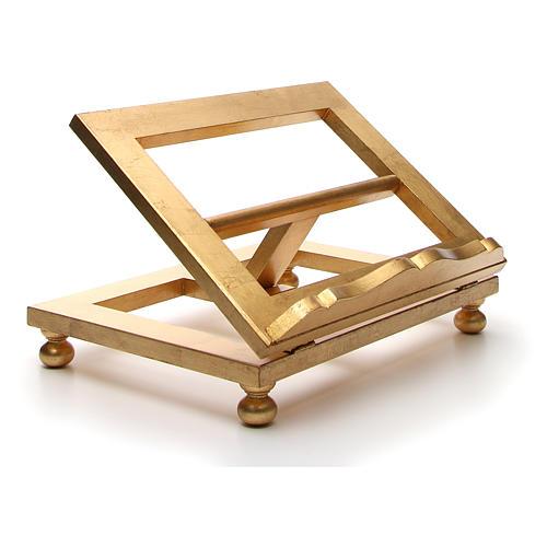 Estante mesa folha ouro 35x40 cm 14